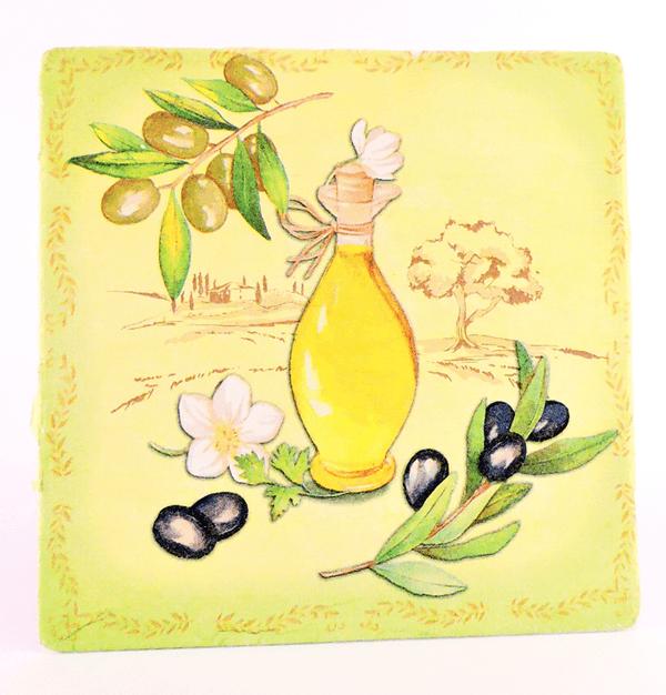 Servietna tehnika – olivno olje 1