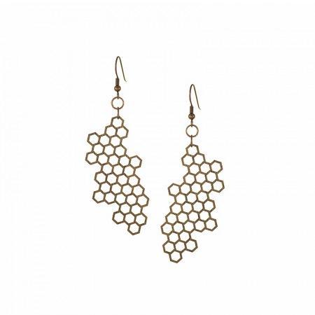 leseni-uhani-honeycomb